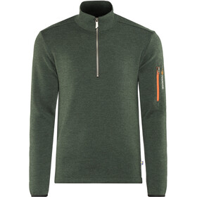 Ivanhoe of Sweden Assar Felpa mezza zip Uomo, rifle green